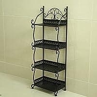 Iron flower racks Badezimmer gestell boden Badezimmer gestell Handtuch gestell Magazin Stand (Farbe : Schwarz, größe : 32*21*88cm) preisvergleich bei kinderzimmerdekopreise.eu