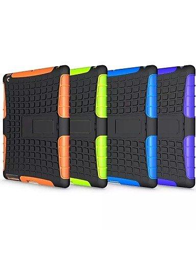 zzll151 Reifen Wellen-TPU und PC zurück Fall mit Halt für Apple iPad 2 ipad 3 ipad 4 (Farbe sortiert) , green KKKAOOL -