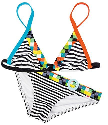 EveryKid Olympia Bikini Zweiteiler Triangel Beach-Fashion Bademode Badeanzug Mädchenbikini Kinderbikini verstellbare Träger (OL-34035-S16-MA0-910-164) in Mehrfarbig, Größe 164 inkl Fashionguide
