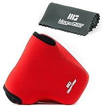MegaGear ''Ultra Light'' Funda Bolsa Protector Neopreno Cámaras Para Sony Cyber-shot DSC-RX10, Sony Cyber-shot DSC-RX10 II (Rojo)