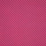 Baumwollpopeline: kleine Pünktchen - rosa auf fuchsia