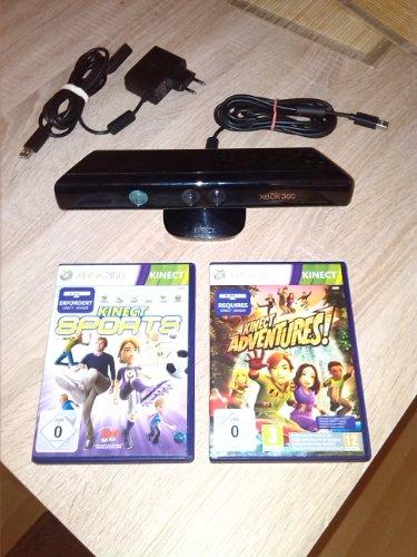 Xbox 360 S Standard Sensor Bundle = KINECT + Adventures (Sen Kinect Sensor, Xbox 360 S