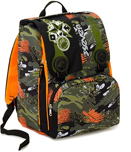 6474d279e9 Zaino Scuola Estensibile Seven , ALARY , Camouflage Verde Arancione , 28 Lt  , elementari e medie