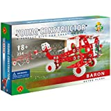Young Constructor -Erector- Baron (Retro Plane) Model Building Set, 254 Pieces, For Ages 8+, 100% Compatible With All Major Brands Including Meccano
