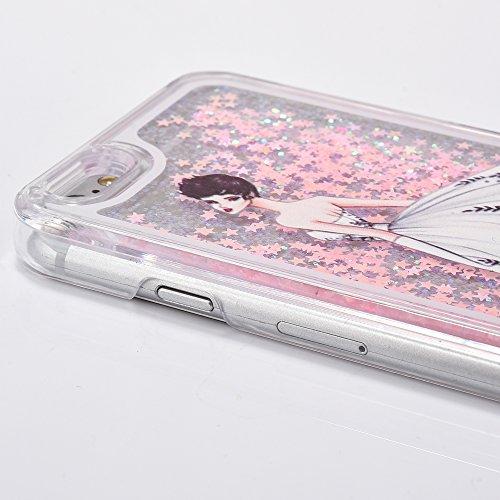 iPhone 6S Plus Coque ,iPhone 6 Plus Coque,iPhone 6S Plus Case,iPhone 6 Plus Case,EMAXELERS iPhone 6S Plus 6 Plus Liquid Coque,Hard Plastique Coque Etui Housse pour iPhone 6S Plus,Cute coloré Étoiles D Dress Girl 9