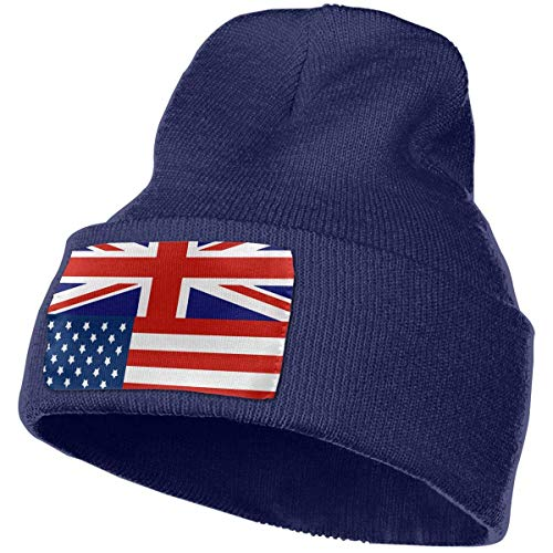 Unisex British American Flag Beanie Mütze Winter Warm Knit Skull Hat Cap (Beanie American Flag)