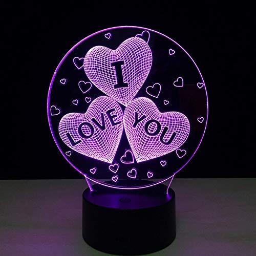 (Schlafzimmer Ich Liebe Dich Herzen Luftballons 3D Lampe Bunte Led Tischlampe Touch Romantische Urlaub Nachtlicht Led Liebesherz Hochzeitsgeschenke)