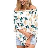 ESAILQ Damen Edle Rüschenbluse kaufen Hemdbluse für Schwarzen Streifen Festliche Gepunktete Marineblau Sommer Weiss Transparent aus Viskose Grün (XL,Weiß)