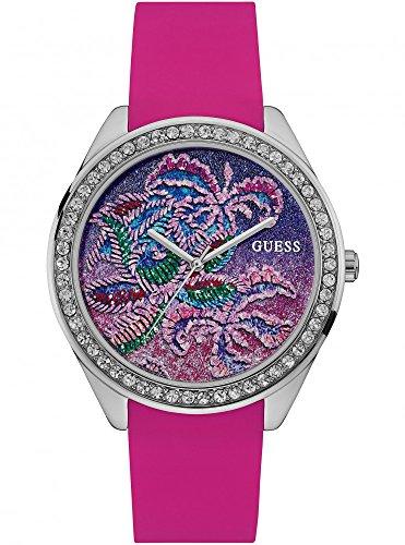 a7484ef574ed Guess Reloj Analogico para Mujer de Cuarzo con Correa en Silicona W0960L1