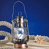 Lunartec Ocean - Lanterna LED con intensità della luce regolabile, luce bianca calda, struttura in bronzo