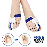 Bunion Corrector and Bunion Relief for Big Toe. Correction Splint for Women & Men with Toe Separator Including Sleeve and Cushions Support. One Pair of Orthopedic Adjustable Straightener Protector Pads for Night Time use.