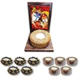 TYYC Radha Krishna Votive Tealight Candle Holder | New Year Gifts Items Joyous Radha Krishna Idol Tea Light Holders Set Of 11| T-lights Candles Diyas Lights For Pooja, Puja, Mandir Home Decor Items