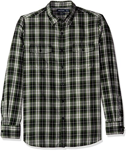 Nautica Men's Slim Fit Pacific Plaid Shirt (Plaid Nautica)