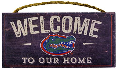 NCAA Florida Gators 30,5x 15,2cm Distressed Welcome to Our Home Holz Schild -
