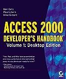 Access 2000: Developer's Handbook, Vol. 1: Desktop Edition