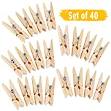#6: Tied Ribbons 40 Piece Wood Clothes Peg