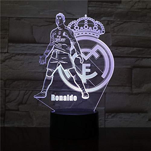 Real Madrid 3D Night Lights Dormitorio LED Ilusión visual Lámpara ...