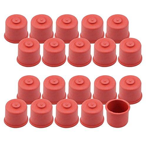 COM-FOUR® 20x Süßmostkappen für 0,7 und 1,0 Liter Flaschen, Größe 2 (20 Stück - 0.7 + 1 Liter) (Gummi-kappe)