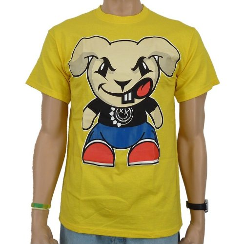 Blink 182 - Straight Bunny Band T-Shirt, yellow, Größe:S (Lifestyle Sportswear)