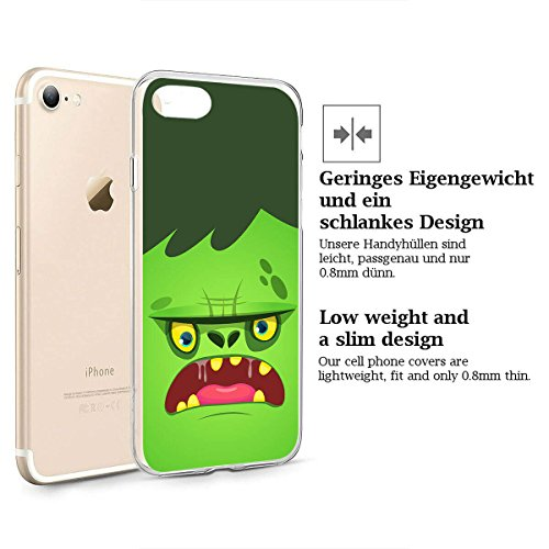 finoo |Iphone 6/6S Weiche flexible lizensierte Silikon-Handy-Hülle | Transparente TPU Cover Schale mit Halloween Motiv | Tasche Case mit Ultra Slim Rundum-schutz | Zombie Mädchen Frankenstein