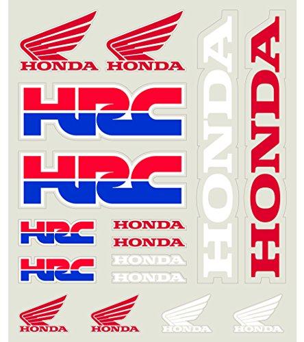 Pritelli 1858003 Set Adesivi Stickers Honda Hrc, Medio