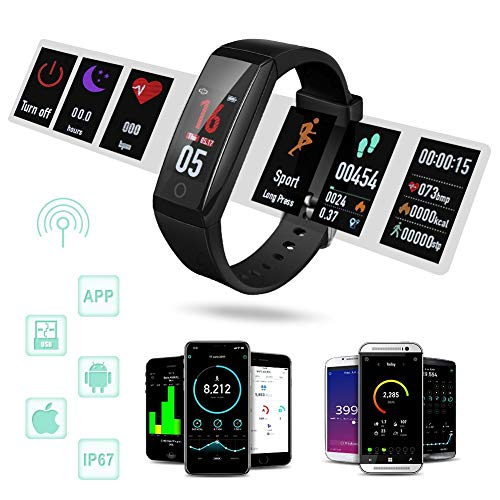 Zoom IMG-2 fitness tracker orologio braccialetto cardiofrequenzimetro