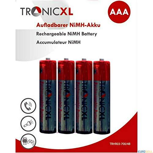 TronicXL 4 Stück Telefon Akku Akkus AAA für TELEKOM SPEEDPHONE 10 11 50 31 100 Siemens Gigaset Panasonic Mobilteil