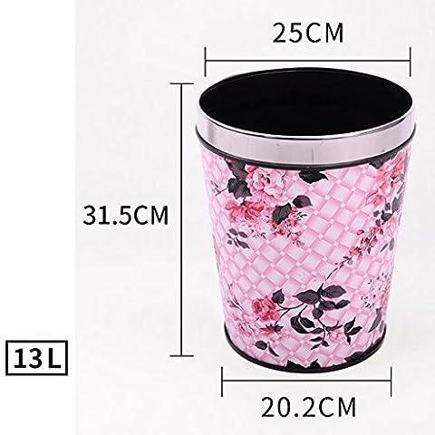 Wddwarmhome Feuille de feuille rose Matériau de cuir conique Creative