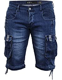 Jeans Hommes Longueur Genou Short Combat By Crosshatch