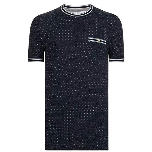 Ted Baker T-Shirt Glaad Polka Mens Navy Medium (Männer T-shirts Ted Baker Für)