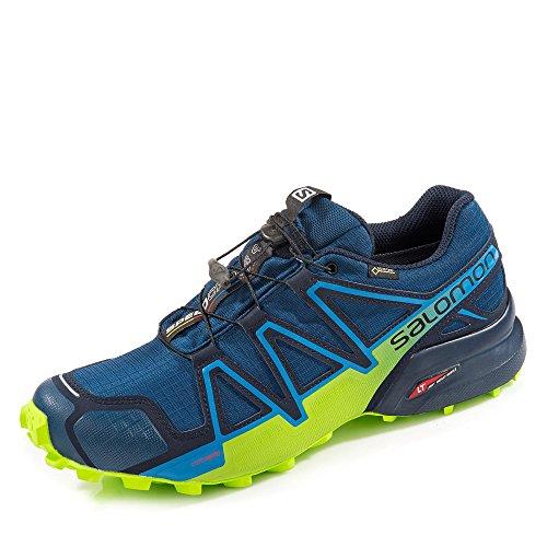 Salomon Speedcross 4 GTX Trail Laufschuh Herren blau/hellgrün, 11 UK - 46 EU - 11.5 US