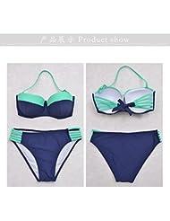 Plaque d'acier de couleur de sort mode européenne sexy triangle dans bikini maillot de bain taille haute