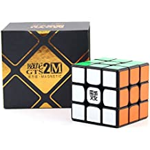 2017 nuevo MoYu Weilong GTS 2M velocidad cubo del imán cubo 3x3x3 rubik profesional | Dingze (Negro)