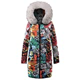 iHENGH Vorweihnachtliche Karnevalsaktion Damen Herbst Winter Bequem Mantel Lässig Mode Jacke Frauen Winter Long Down Cotton Damen Parka Kapuzenmantel Steppjacke Outwear