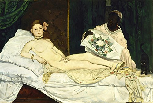 Legendarte P-289 Wandbild Edouard Manet-Olympia, Leinwanddruck, Mehrfarbig, 60 x 90 x 4 cm