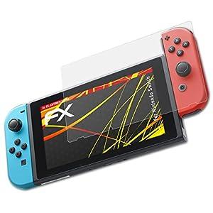 atFoliX Schutzfolie kompatibel mit Nintendo Switch Displayschutzfolie, HD-Entspiegelung FX Folie (3X)