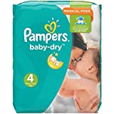 Pampers - Baby Dry - Couches Taille 4 (7-18 ou 8-16 kg /Maxi) - Pack Economique 1 Mois de Consommation (x174 couches)