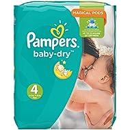 Pampers Baby Dry Windeln, Monatspackung, Größe 4 (Maxi), 8-16 kg, (1 x 174 Windeln)