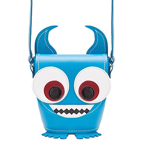 Zatchels - Little Horrors - Borsa a secchiello in pelle - Donna Blu