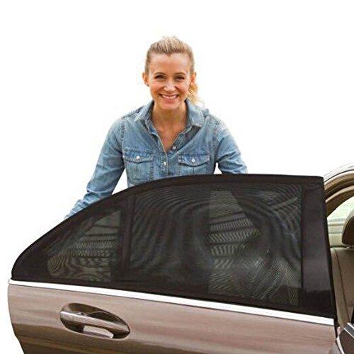 ZREAL 2 Stücke Auto Heckscheibe Anti-UV Sonnenschirm Sonnenschein Blocker Protector Abdeckung Sitz Schatten Mesh Blind (Auto-sitz-schatten-abdeckung)