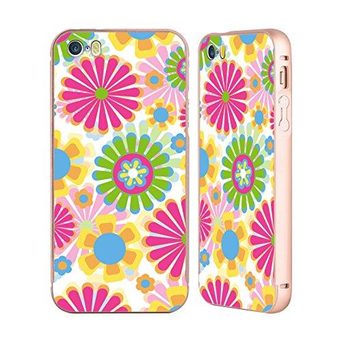 Ufficiale Shelly Bremmer Nel Buio Fiori Oro Cover Contorno con Bumper in Alluminio per Apple iPhone 5 / 5s / SE Tempo