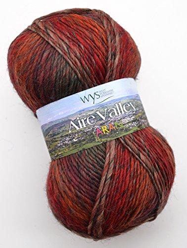 West Yorkshire Spinners Aire Valley aran Fusions 884 - golden forest, 100g Wolle zum Stricken und Häkeln (Fusion Wolle)