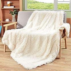 Yaer Kuscheldecke 160 x 200 cm PV longhair Blanket Microfaser Kunstfell TV Decke Tages Klimaanlage Decke für Couch Bett Leicht Flauschig