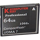 Carte Komputerbay 64GB Professional Compact Flash CF 1066X écrire 155 Mo/s en lecture 160 Mo/s Extreme Speed ​​UDMA 7 RAW