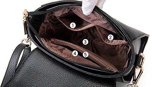 Borse, versione personalizzata di moda coreana della borsa, l'atmosfera dello zaino obliqua selvatico, borsa a tracolla, pacchetto di marea ( Colore : Rosso ) Rosso