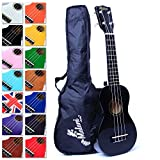 Best Black Soprano Ukulele with Bag, Great Fun for Adult Beginners and Children LOVE Ukuleles (#1 Music Instrument) with FREE eBook and 'String Stretching' Guide to Get You Enjoying your Uke FAST