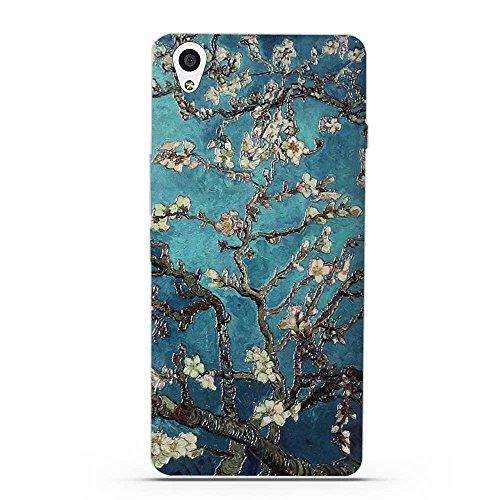 OnePlus X Hülle, Fubaoda 3D Erleichterung Klassische Blume Muster TPU Case Schutzhülle Silikon Case für OnePlus X (1+X)