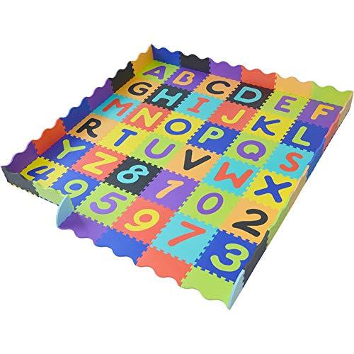 Alfombra Puzle LPD Enclavamiento Espuma esterillas Ideal for Zona de Juegos Infantil, Hogar, Gimnasio, Ejercicio, Aptitud, Entrenamiento, Garaje (Color : E, Size : 36Pcs)