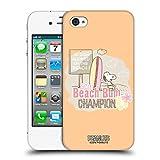 Head Case Designs Officiel Peanuts Champion sur La Plage avec Snoopy Étui Coque D'Arrière Rigide pour iPhone 4 / iPhone 4S