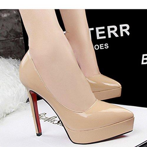 Chaussures avec plateforme stiletto chaussures a talons hauts pour le mariage pour femmes filles abricot 41 SgsHx
